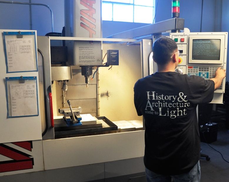 Custom Lighting Manufacturers - HAAS CNC Mill   Contract