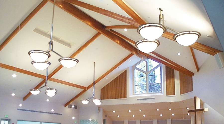 custom church lighting valencia united methodist contract